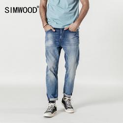 Мужские облегающие брюки из денима SIMWOOD, джинсы длиной до щиколотки, 2019, уличные джинсовый брюки батальных размеров, 190028