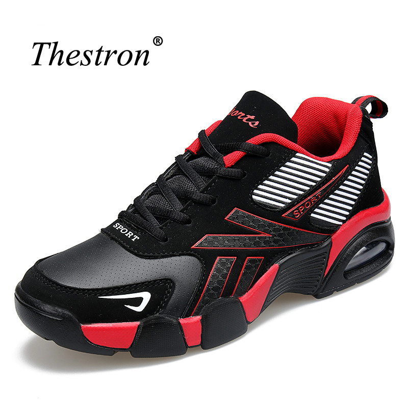Thestron Mens Sport Shoes Blue/Red Mens Running Shoes Good Quality Mens Sneakers Shoes Spring/Autumn Walking Sneaker Men
