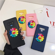matte 3D solid color flower silicone case for Samsung Galaxy note 10 plus pro 9 8 5 soft tpu cute back cover capa funda coque