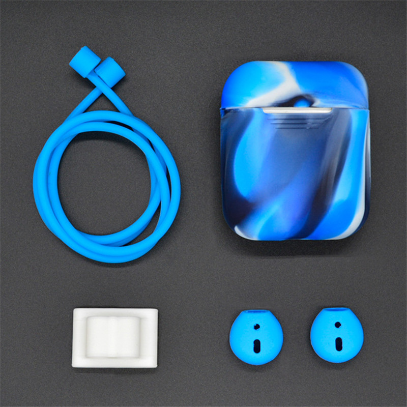 10 Colors Earphone Protector Set For Apple Airpods Portable Silicone Strap Cover Case For Air Pods Headset Accessories Supplies цена
