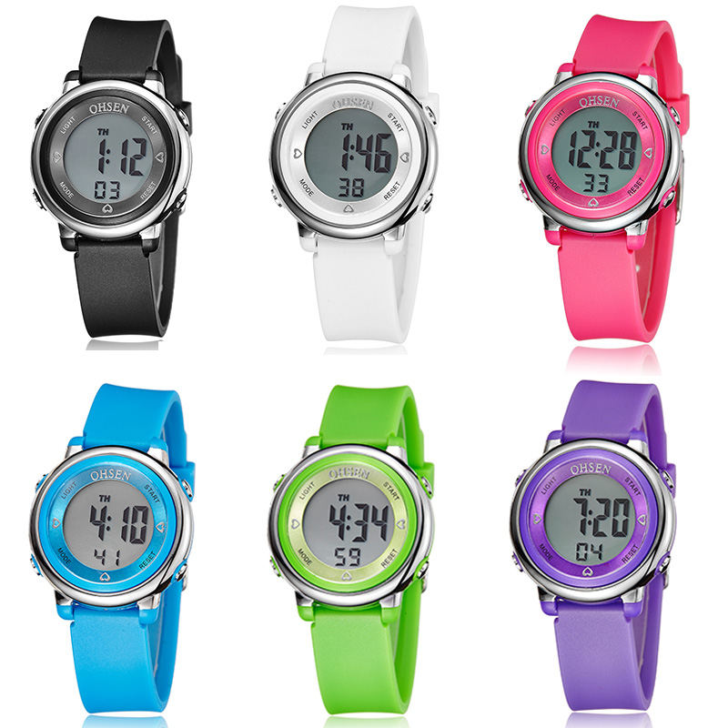 Kids Watch Men Women Digital Sport Boy Watches For Girls Blue Children Watch Waterproof LED Alarm Student Clock Relogio Infantil