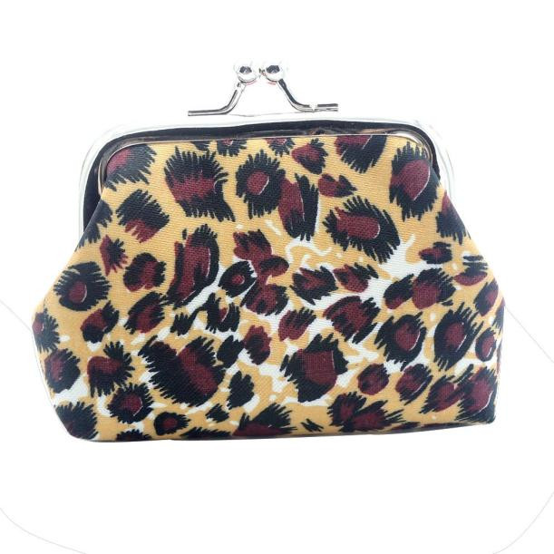 Xiniu Women Lady Retro Vintage Leopard Small Wallet Hasp Purse Clutch Bag