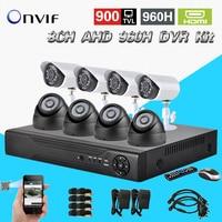 HD AHD 960H 8Ch 900TVL CCTV Video Surveillance System Onvif NVR DVR Recorder Kit 8 Ch