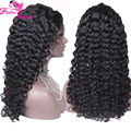 Free Parting Curly Silk Top Glueless Full Lace Wigs Peruvian Human Hair Silk Top Lace Front Wig With Natural Hairline
