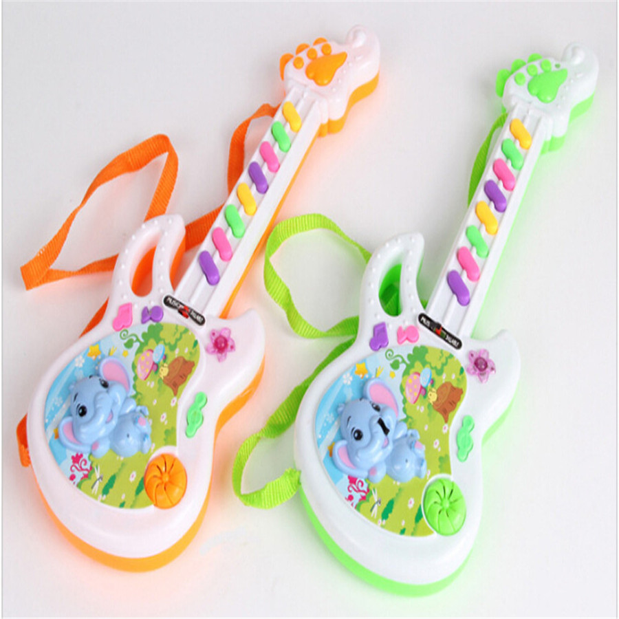 HIINST New Arrival Electric Guitar Toy Musical Play For Kid Boy Girl Toddler Learning Electron Toy Color Random Drop Ship 20#