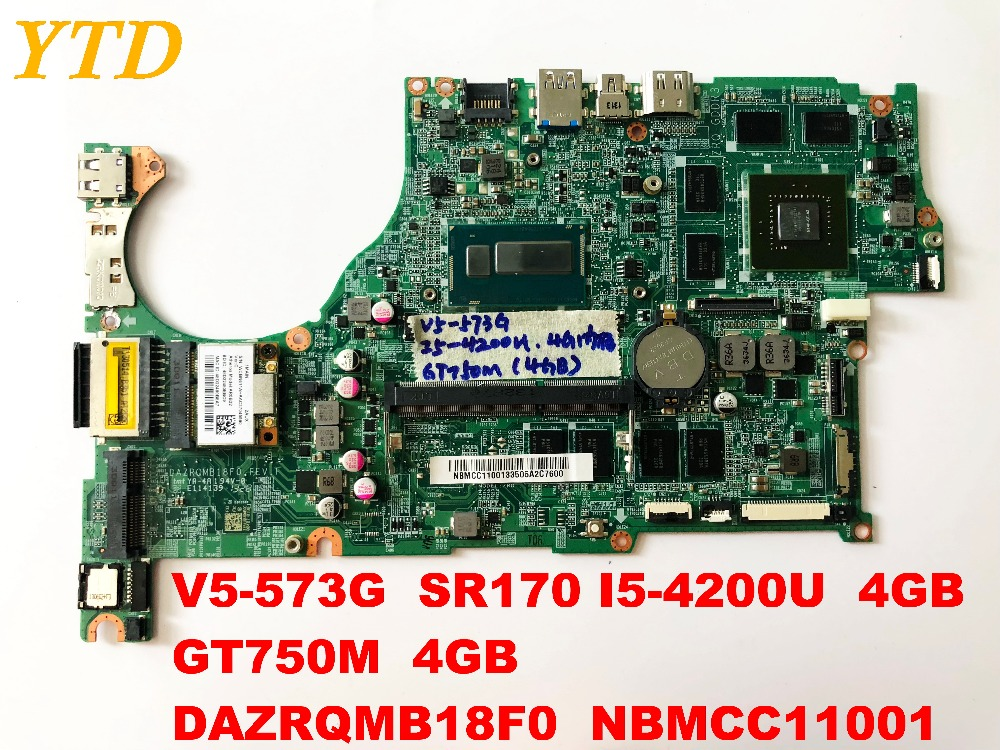 Original for font b ACER b font V5 573G laptop motherboard V5 573G I5 4200U 4GB