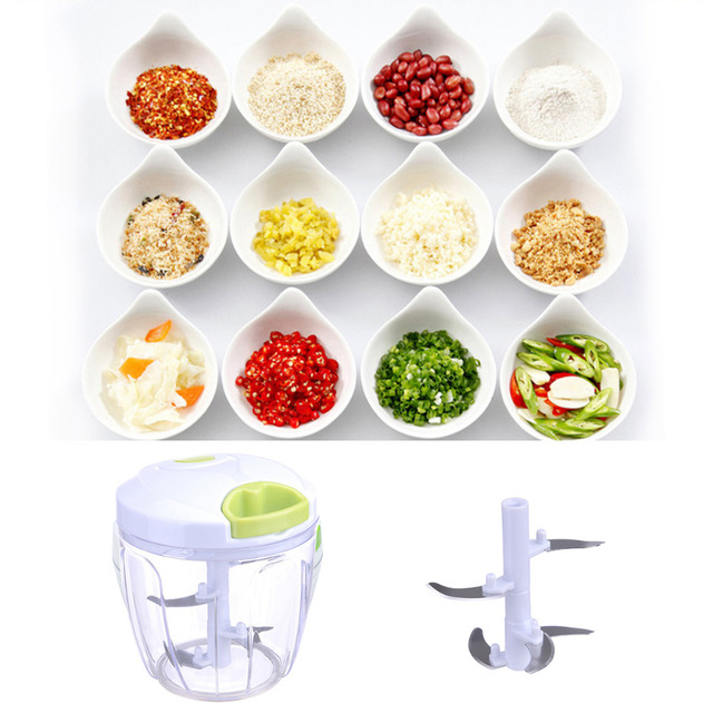 Kitchen pulling food chopper household hand chopper manual rope.