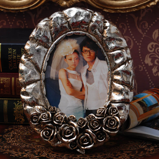Clearance ! European retro photo frame ancient silver rose Jinying ...