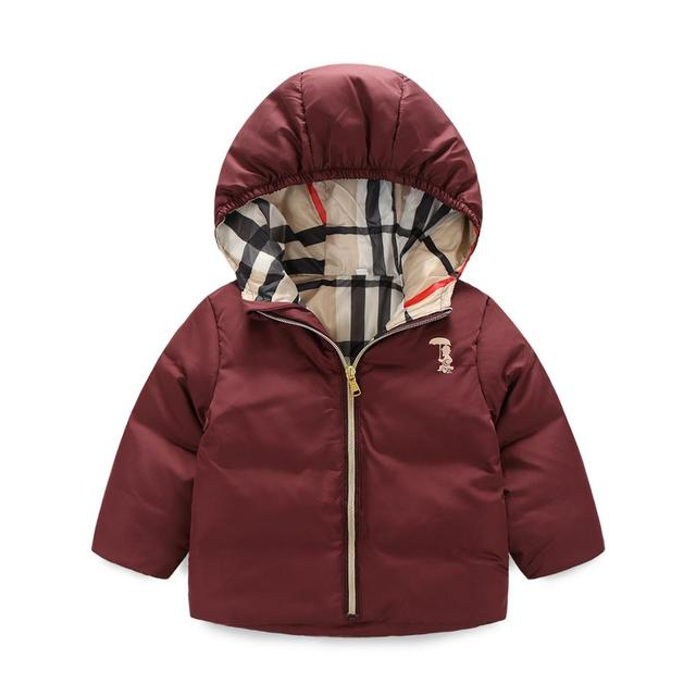 Winter Boys Girls Warm Hooded Jacket Brand Design Girls Down Cotton Jacket Children's Clothing Kids Thick Coats Outerwear