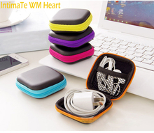 1pc Earphone Wire Storage Box Protective Zipper Data Line Cables Storage Container Case casual Gift Phone Accessory #A30