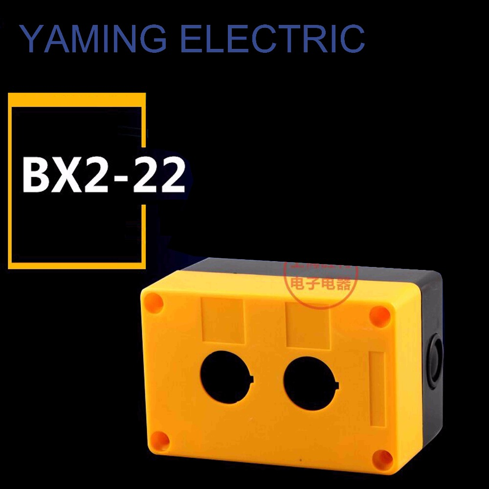 цена на P81 Equipment Lift Elevator Urgent Emergency Stop Control Push Button Switch Box Fireproof Waterproof Two Hole 22mm BX2-22