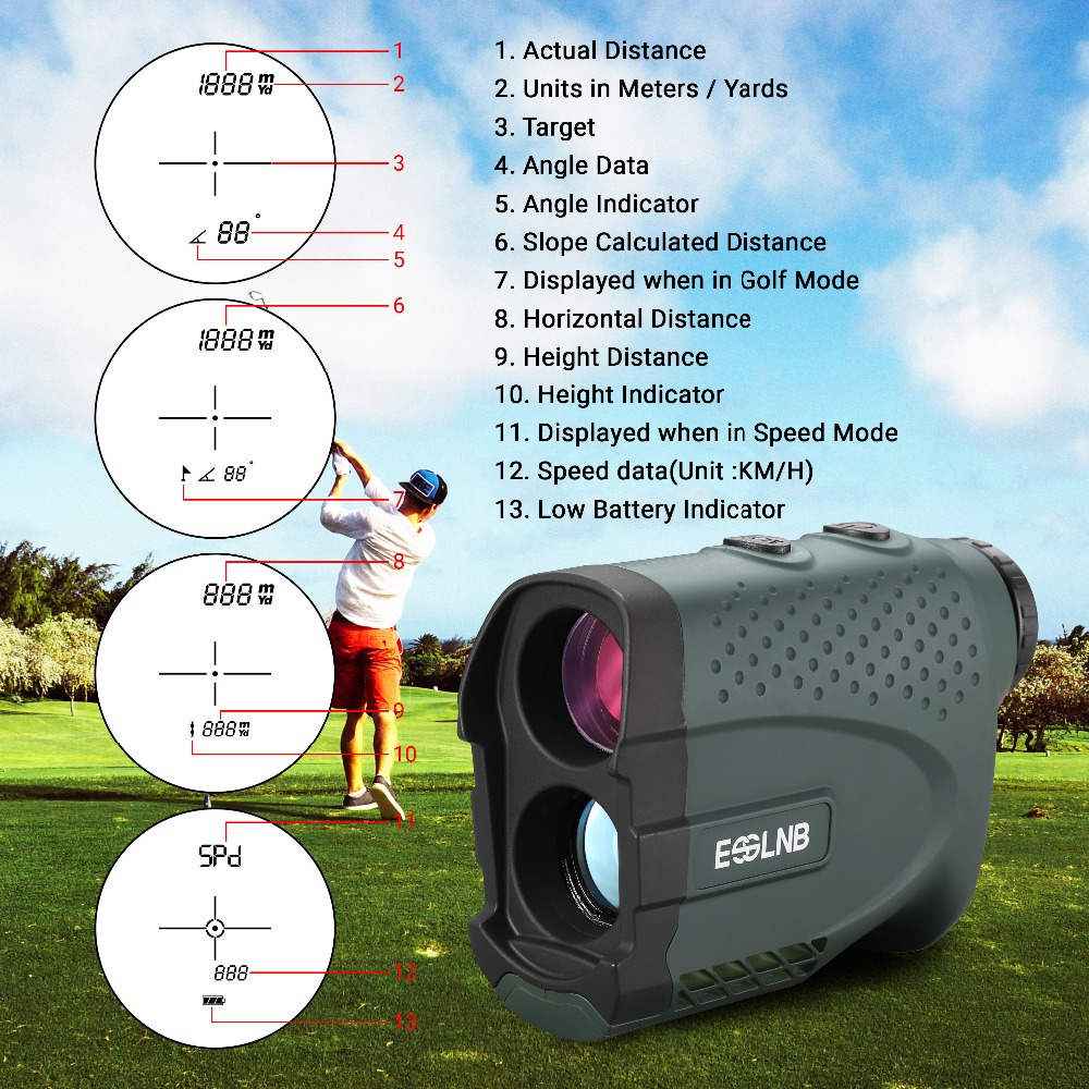 Image 5 - 7X25 LR600 Telescope Laser Rangefinder Laser Distance Meter Monocular Golf hunting Laser Range Finder Tape Measure Roulette-in Rangefinders from Sports & Entertainment