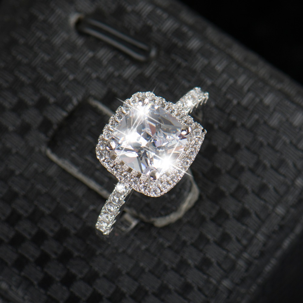 ring cut carat engagement princess rings square product diamond