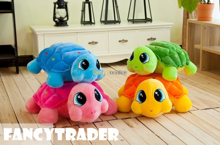 Fancytrader New Style Turle toy 1 pc 28'' 70cm Big Plush Stuffed Turtle Tortoise Birthday Gift 4 Colors, Free Shipping FT90523 fancytrader new style fashion banana toy 31 80cm big plush stuffed cute banana birthday gift kids gift free shipping ft90528