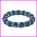 6pcs free ship!  fashion charm shamballa bracelet crystal rhinestone bead spacer charm elastic bracelet