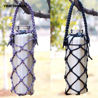 YINGTOUMAN EDC Outdoor Heat Shield Camping Hiking Pocket Multi Tools Weave Parachute Cord Cup Mesh Bottle