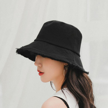 BINGYUANHAOXUAN Panama Hats for For Women Unisex Bucket Hat Female Portable Foldable Flat Solid Color Sun Ggorras