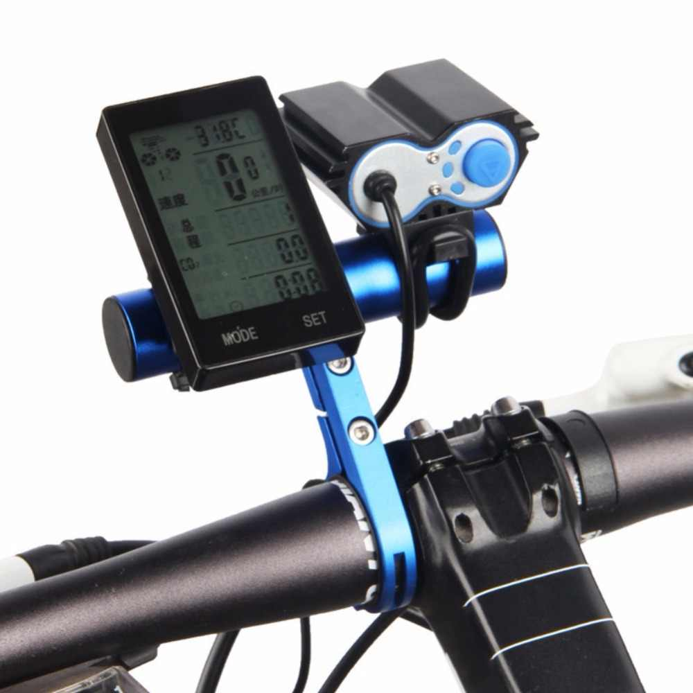 Alliage d'aluminium vtt vélo vélo guidon support d'extension 10CM support de lampe vélo guidon boussole digitale nouveau