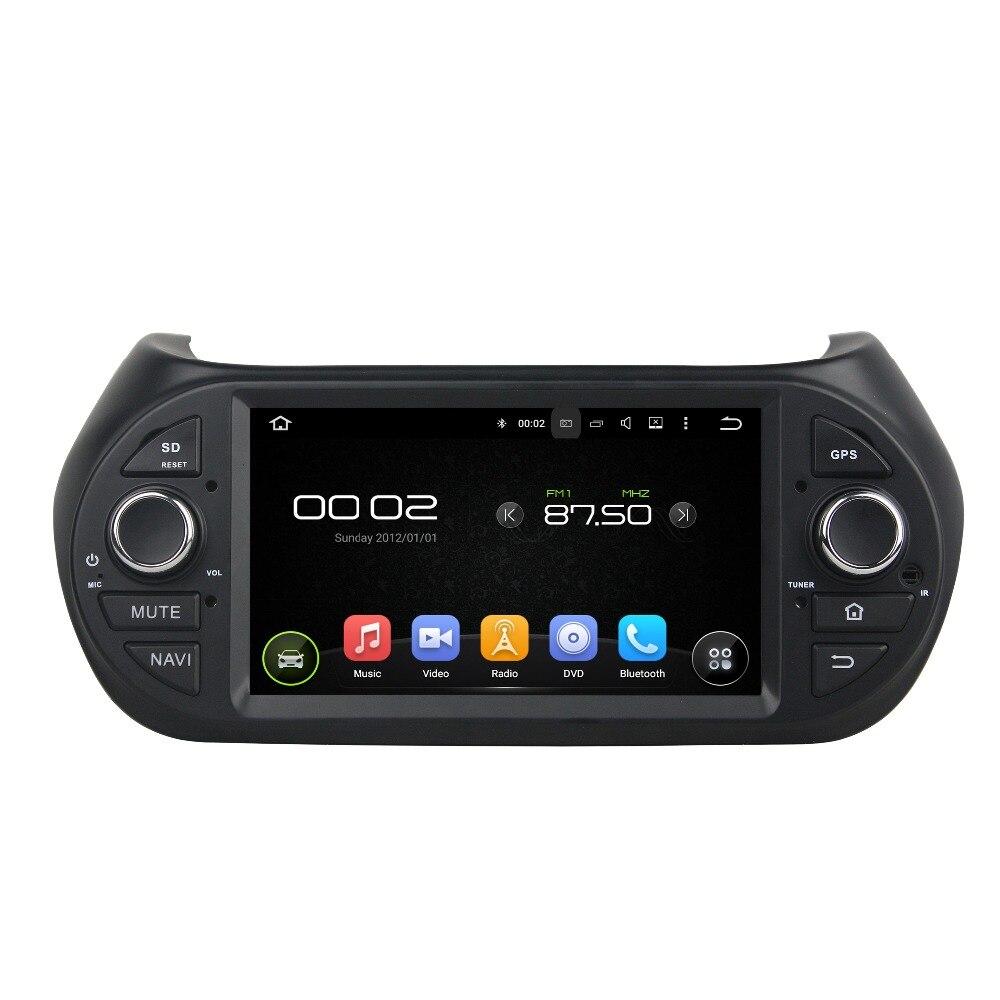 """7 """"Восьмиядерный Android 6.0 Автомобильный мультимедийный плеер для Fiat Fiorino 2008-2015 deckless аудио-видео стерео бесплатная карта dvd-плеер"""