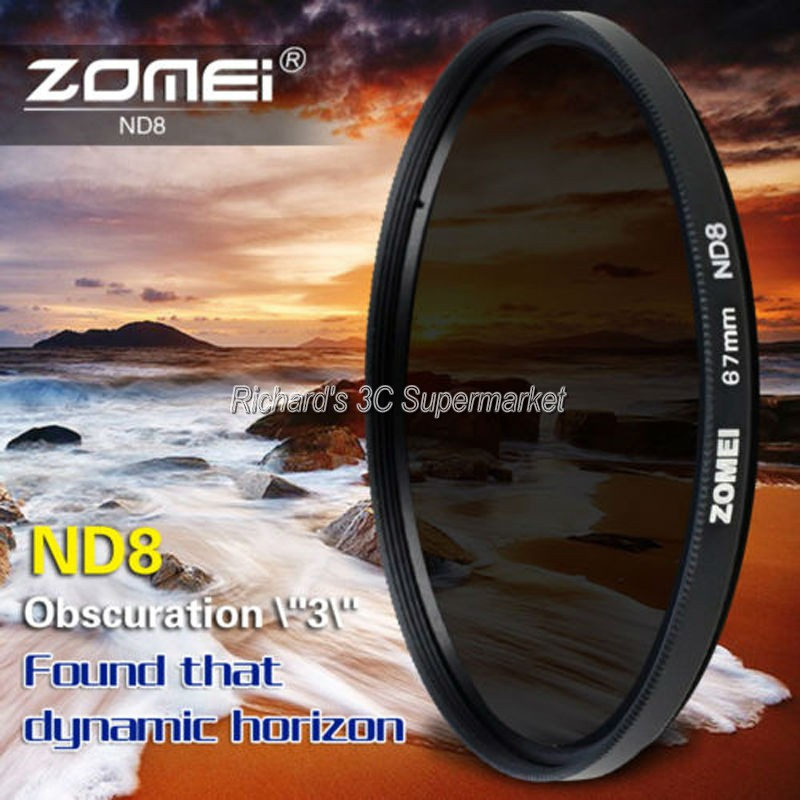 ND8 ND Neutral Density Motion Blur Shutter Speed Filter for Nikon AF VR Zoom-Nikkor 80-400mm f//4.5-5.6D ED Lens