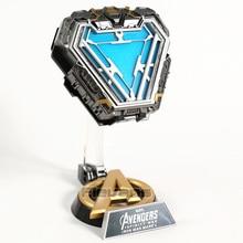 アイアンマンマークl MK50 arc reactor ledライト1/1プロップレプリカアップルグリーンジルコンリングフィギュア模型玩具