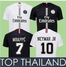 25f499ddac1 2018 new Paris Saint Germain PSG Soccer Jersey 19 18 7 Mbappe 6 Verratti 9  Cavani