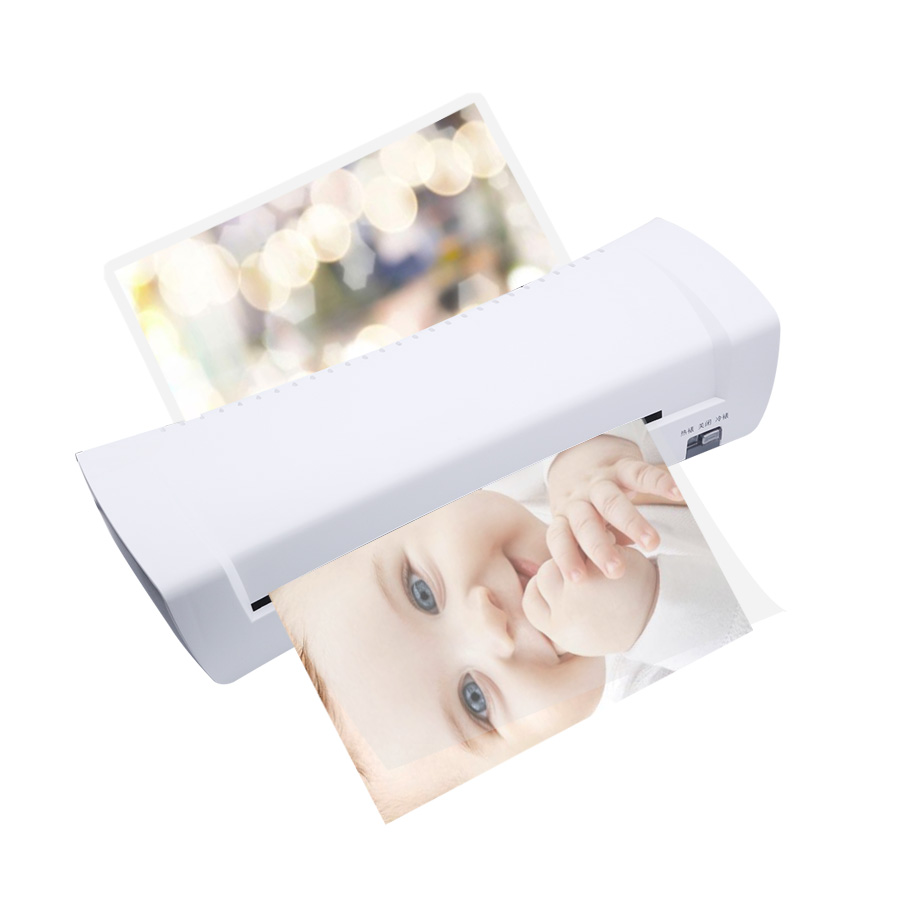 A4 Photo Laminator Office Hot & Cold Thermal Laminating Machine Professional For Protect Document Photo PET Film Roll Laminator