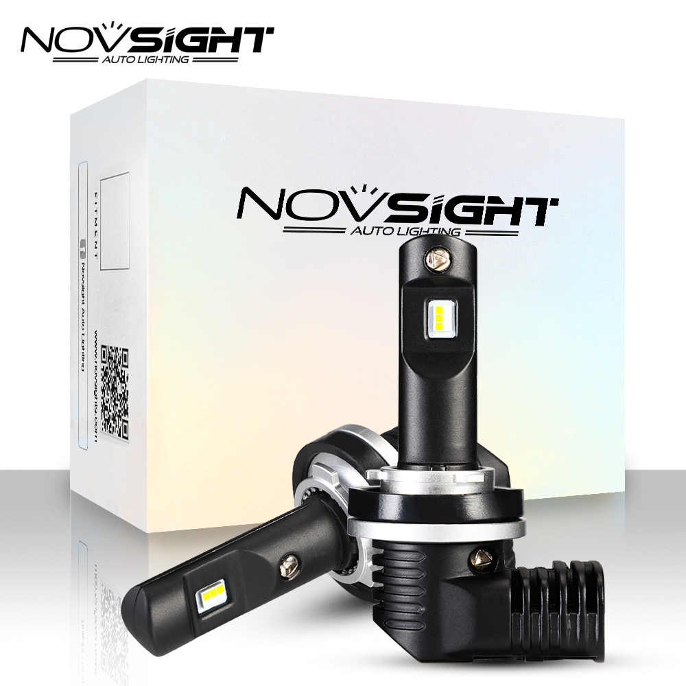 NOVSIGHT New 1:1 DESIGN 2PCS mini LED car headlight H11 H4 H7 9005 9006 HB3 HB4 50W 10000LM 6500K White Auto LED Lamps