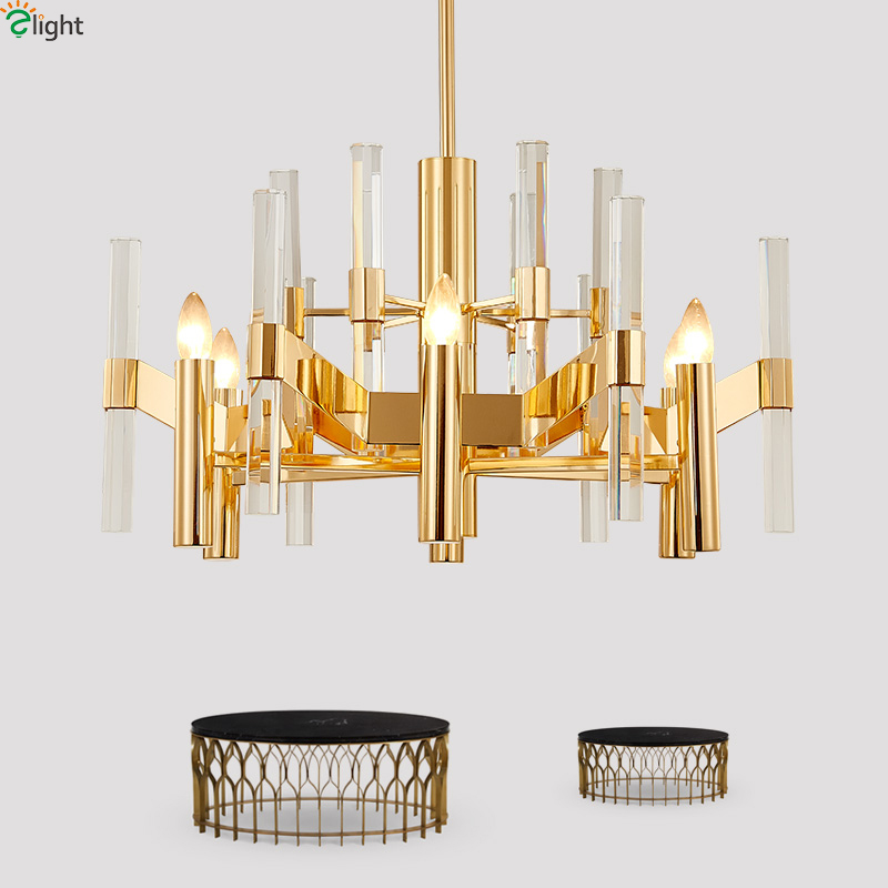 Postmodern Lustre Crystal Led Chandeliers Lighting Gold Metal Living Room Led Pendant Chandelier Lights Hanging Light Fixtures kenneth cole reaction women s beauty in belize skirted bikini bottom