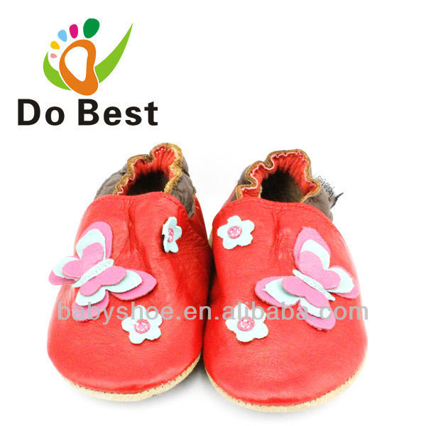 Tipsietoes Brand Butterfly Floral Soft Sheepskin Baby Kids Toddler Shoes Moccasins For Girls First Walkers 2016 Autumn Spring
