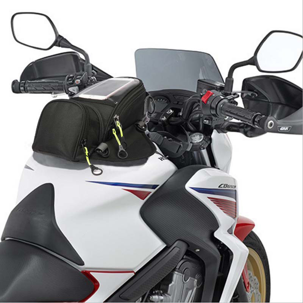 Image 5 - WOSAWE Motorcycle Fuel Bag Mobile Phone Navigation Bag Multi functional Small Oil Tank Package Magnetic Fixed Straps Fixed-in Tank Bags from Automobiles & Motorcycles