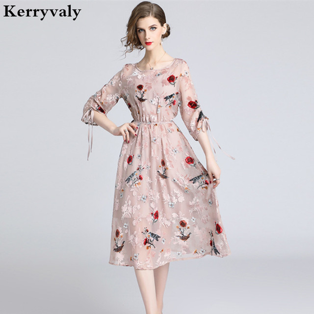 04c118edf8e94 New Spring Fairy Gothic Midi Party Dress Vetement Femme 2019 Ladies Dresses  Robe Ete Femme Robe Blanche K6512