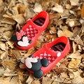 Mini sed sandalias de niña Minnie 2016 nueva llanura rain boot bebé de la jalea del verano pequeño gato niños toddler kids zapatos 13 cm-15.5 cm