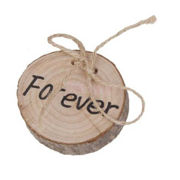 Natural wooden  Cute Valentines Engagement Original Ecology Bark Wooden Ring Pillow Wedding Decorative Ornaments