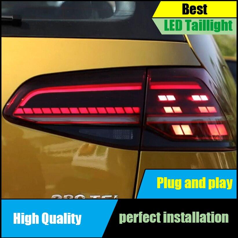Car Styling For Volkswagen VW Golf 7 MK7 2013 2014 2015 2016 Full LED Taillight Dynamic Turn Signal Tail Light Rear Lamp+Brake