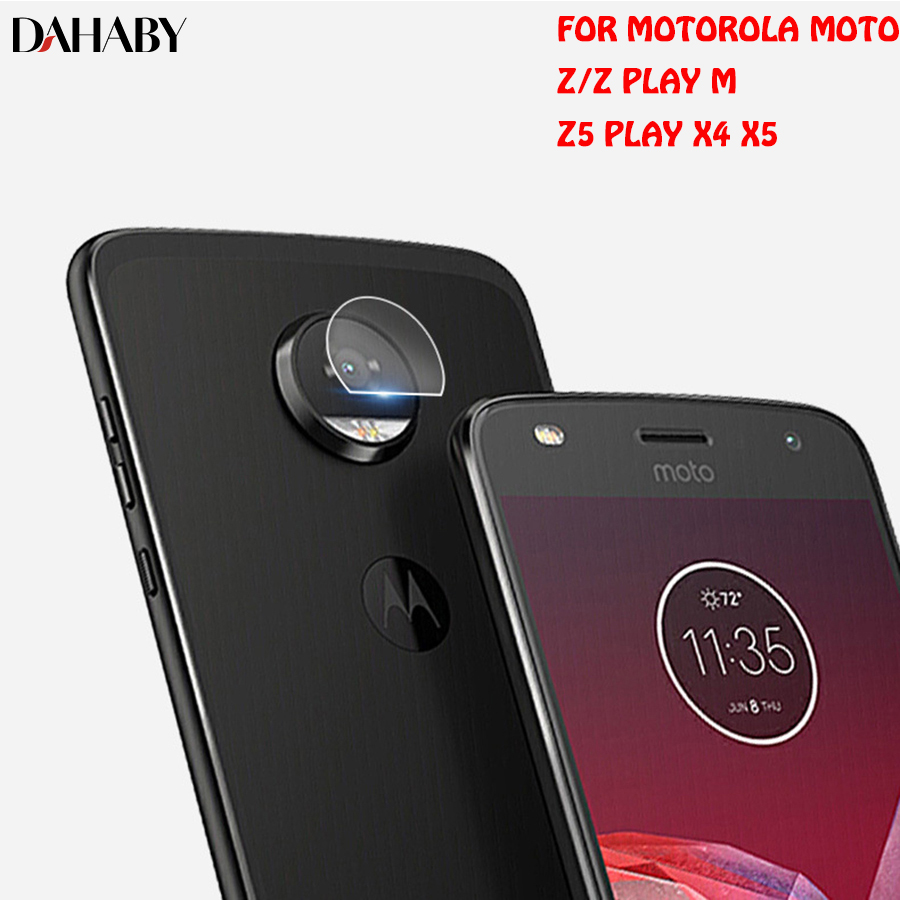 DAHABY Back Camera Lens Tempered Glass Screen Protector For Motolora Moto Z Play Z Z5 Play M X4 X5 Ultrathin HD Clear Film Guard