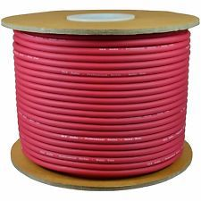 KL High Quality 50M MIC BULK CABLE 24AWG with red color. цена