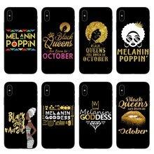 2bunz Melanin Poppin Aba black Soft Silicone Case Cover For iPhone X 10 6 6SPlus 7 Plus 5 5S SE 8 8Plus