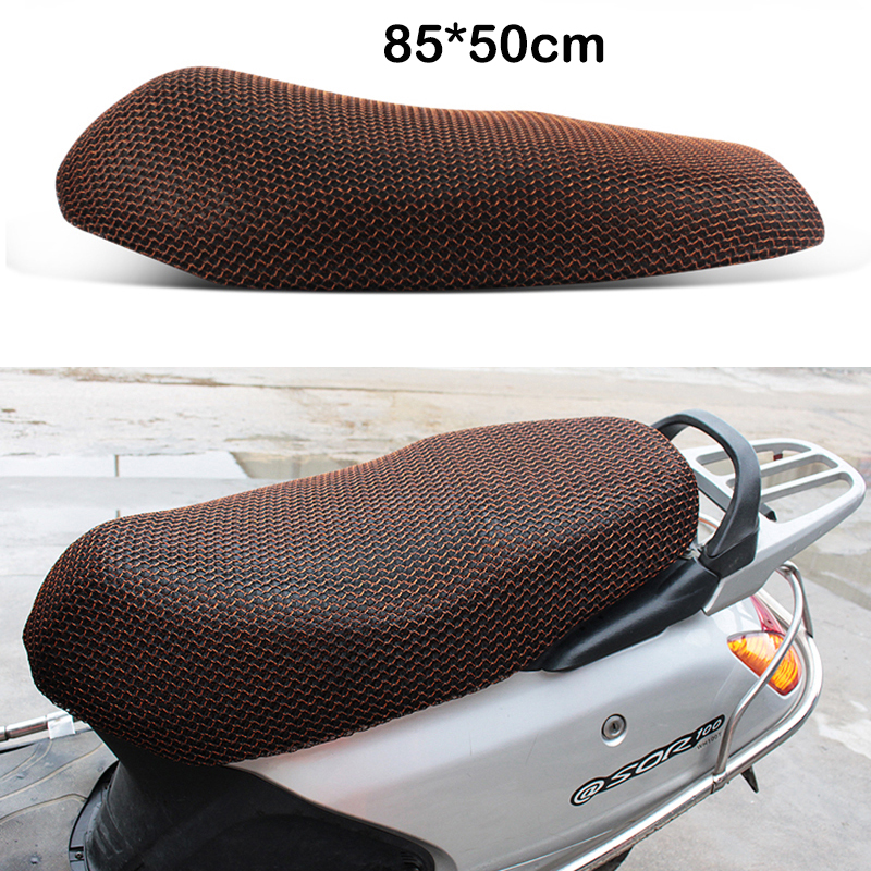 85*50 Cm Motorcycle Seat Cover Scooter Electric Bike Sunscreen Net Breathable Protector Ventilated Cushion 3D Sun Proof