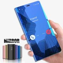 Luxury Mirror Flip Case for Huawei P Smart 2019 P30 Pro P20