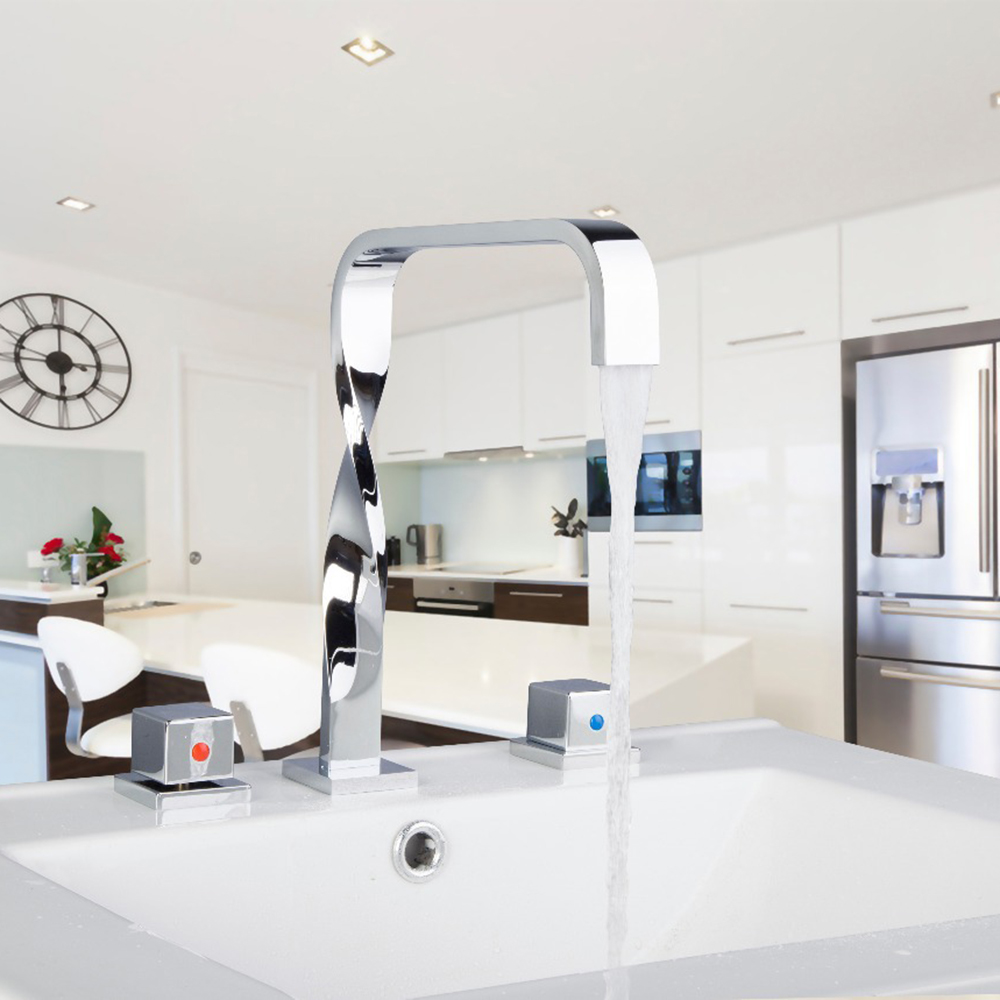 Sumptuous and Superior in Quality Basin Faucet Chrome Polished Deck Mounted  Single Handle Hot Cold Water Excellent Kitchen Tap torayvino style kitchen faucet chrome polished deck mounted single handle hot cold water beautiful eminent kitchen faucet
