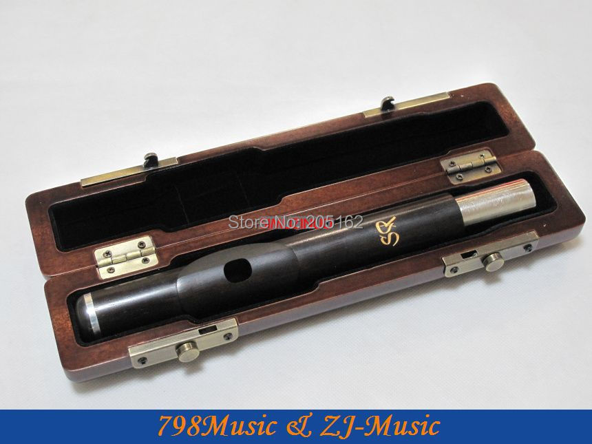 Flute Headjoint Case for WOOD WOODEN Headjoint-Wood Wooden Hand Made VERY NICE wooden flute case hard case rosewood color durable 17 hole b foot flute also c foot flute