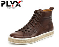 Brand PHLIY XUAN England Retro New 2017 Men Boots Genuine Leather 100 Handmade Male Ankle Boots