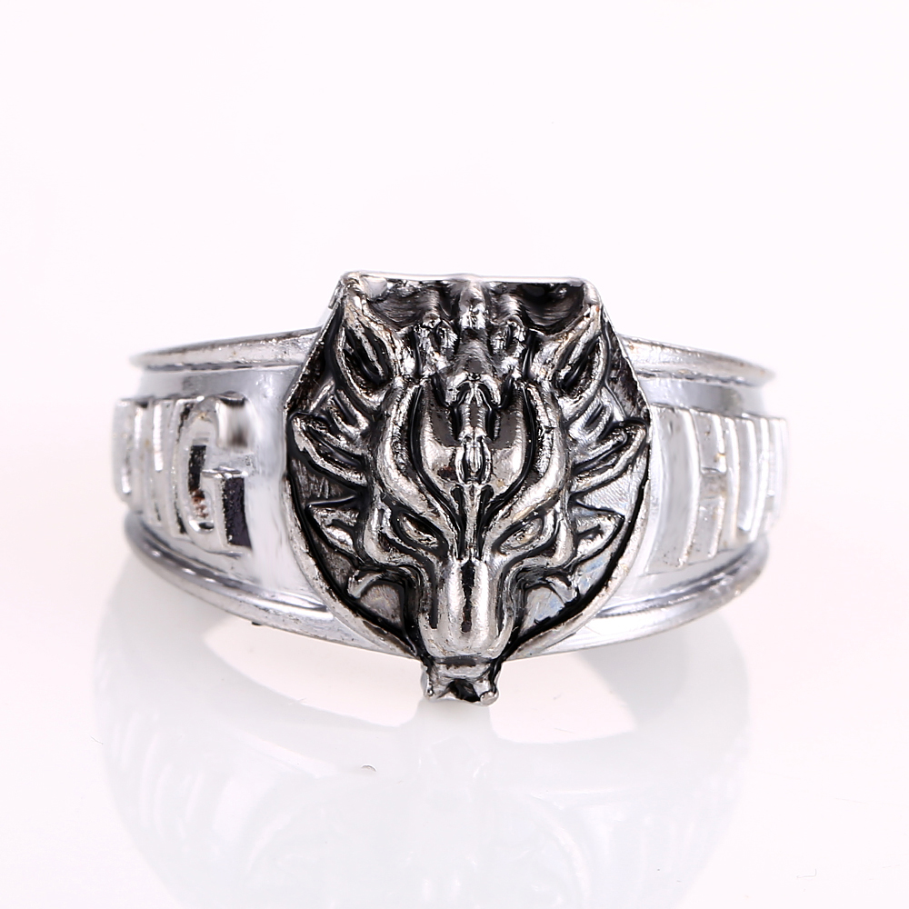 New arrival anime final fantasy lion cosplay accessories personal unique fierce rings fashion coser cool ring men in rings from jewelry accessories on