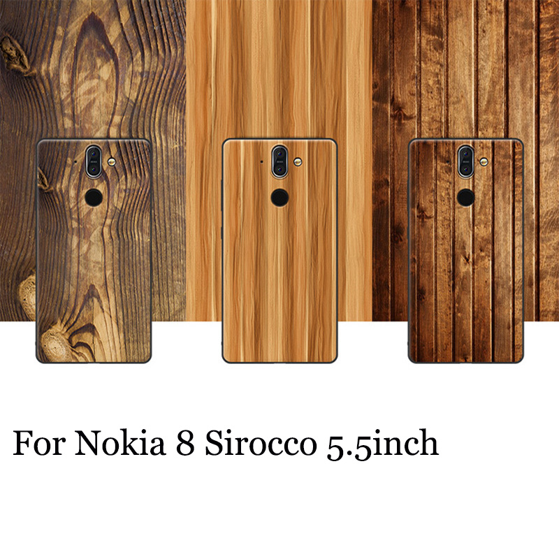 For Nokia 8 Sirocco case wood grain painted soft back cover For Nokia8 Sirocco shell case cover For Nokia 8Sirocco