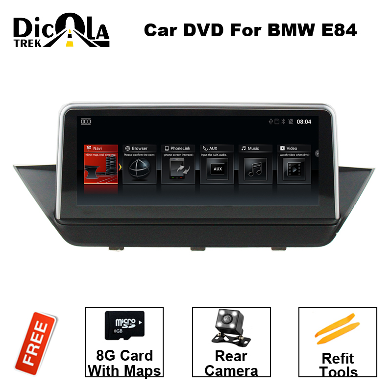 Car Multimedia player 2 din android 6.0 Car DVD Player 10.25 Inch For BMW/X1/E84 CIC 2G RAM Quad Cores GPS Radio BT DAB+ kanor android 7 1 ram 2g 2din car dvd radio for hyundai elantra 2016 multimedia player wffi swc map bt audio double din car gps