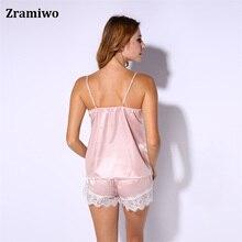 Nightgowns Comfy  Pajamas  Pretty Nighties Artificial Silk Sleepwear Sets