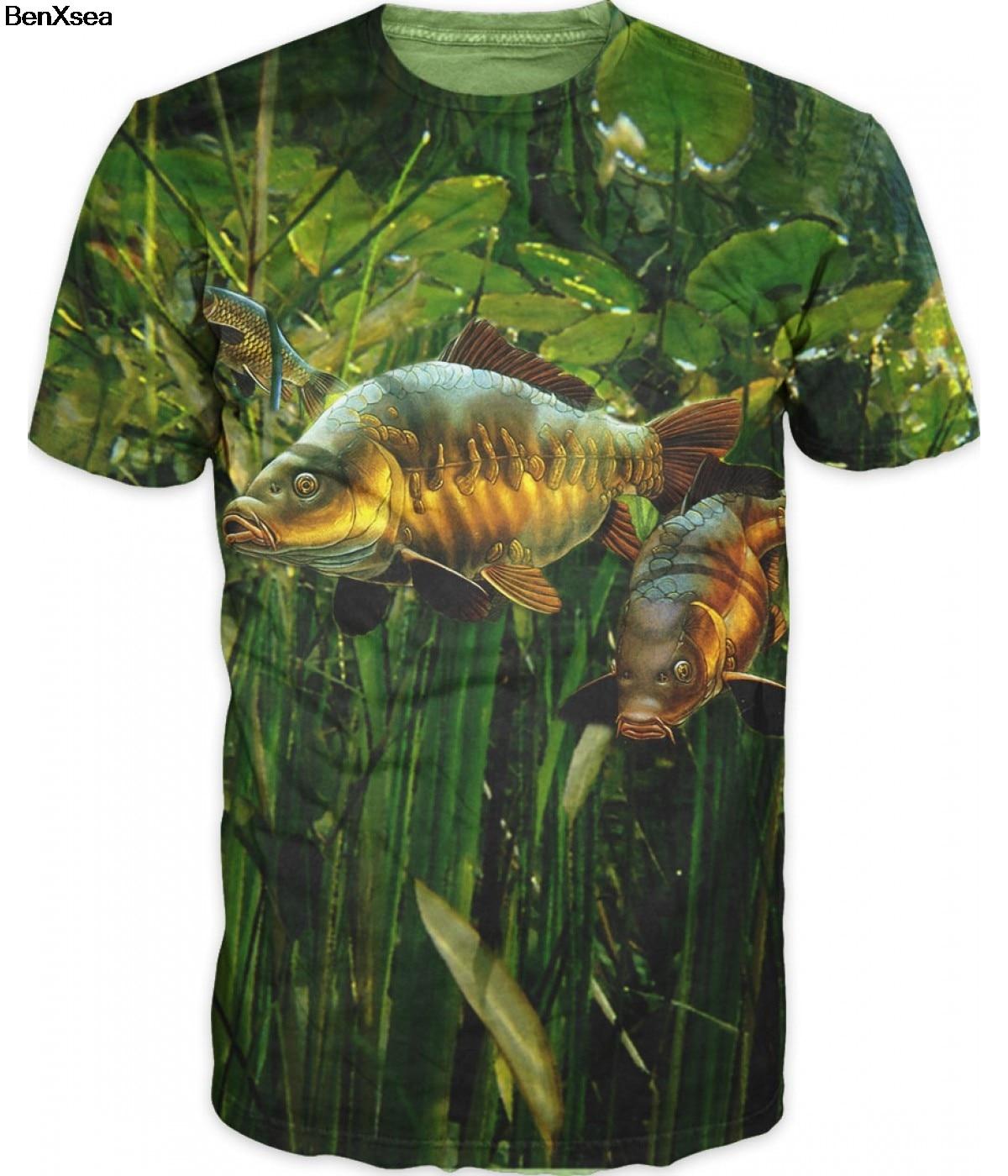 2018 Moda Estilo Muitos 3D Impresso Tee Cool Men 3D T-Shirt Peixe Carpa Hobby Superdimensionada Tshirt Hip Hop