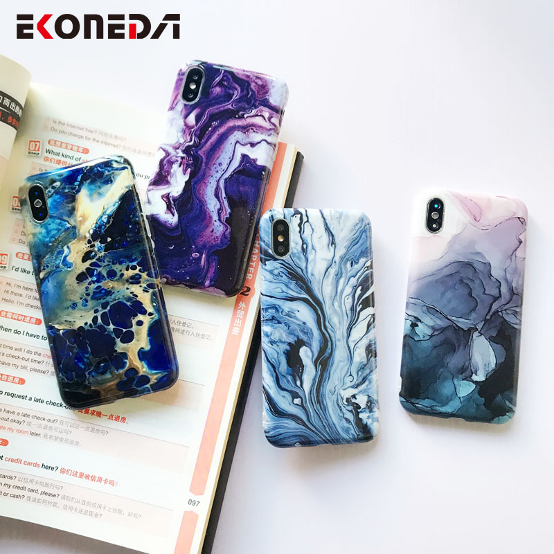 Image 4 - EKONEDA Soft IMD Case For iPhone X Case Marble Phone Cases For iPhone 7 Case Silicone Cover For iPhone 6S 7 8 Plus XS Max XR-in Fitted Cases from Cellphones & Telecommunications