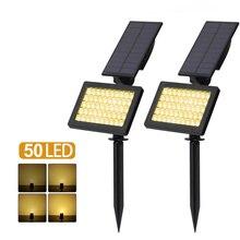 цены на 50 LED  Outdoor Landscape Light Solar Lights Spotlight Waterproof Wall Adjustable Light Warm White 3500K Solar Lights For Garden  в интернет-магазинах